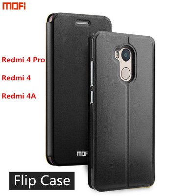 xiaomi redmi 4 pro case cover Redmi Mi 4 cover redmi 4a case flip case MOFi original leather cover capa coque funda stand 5""
