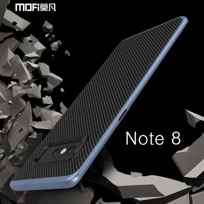 For Samsung galaxy note 8 case cover for samsung note8 case back 2 in 1 cover carbon fiber bussiness black stripe capa coque 6.2