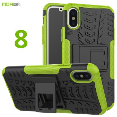 MOFi Case for iphone 8 case cover MOFi original back case holder stand man case for iphone 8 cover capa coque funda armour corselet 8 case