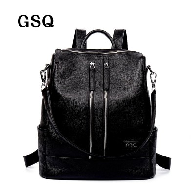 Backpacks for Girls Fashion Genuine Leather Women Backpack Hot High Quality Famous Brand Preppy Style String Women School Bag Girl Travel Bags