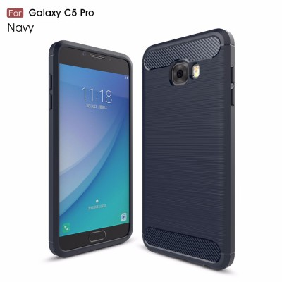 50pcs Phone Cases For  Samsung Galaxy C5 Pro Galaxy C7 Pro case Carbon Fiber slim Fitted armor heavy duty case for Galaxy C9 Pro