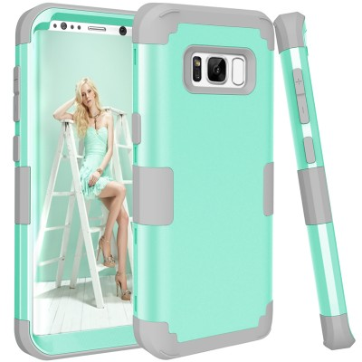 Shockproof Phone Cases for Samsung Galaxy S8 3-Layers Hybrid Full-Body Protect Case for Galaxy S8 Anti-Knock Phone Shell