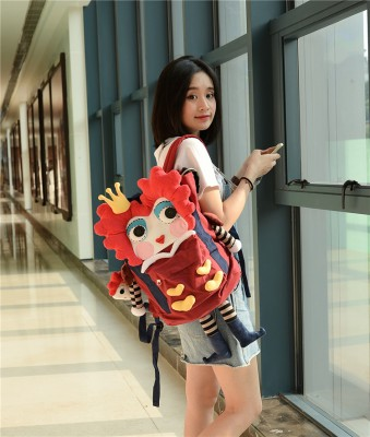 Alice in Wonderland Red Queen Original Handmade Canvas Backpacks Shoulder Bags