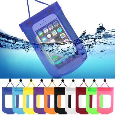 Universal 9 inch Waterproof Underwater Pouch with View Window Dry Hang Bag Case For Cell Phone