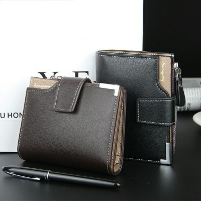 Brand mens wallet with zipper compartment purse Clutch bag male wallet Coin Small section portfolio Card  Pocket Holder wallets
