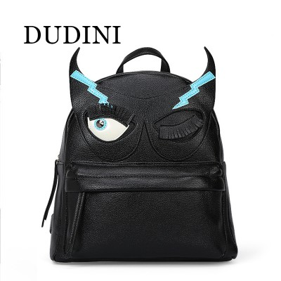 New Female Bag Pu Leather Women Bag Cute Animal Backpacks Monster College Wind Mini Backpack