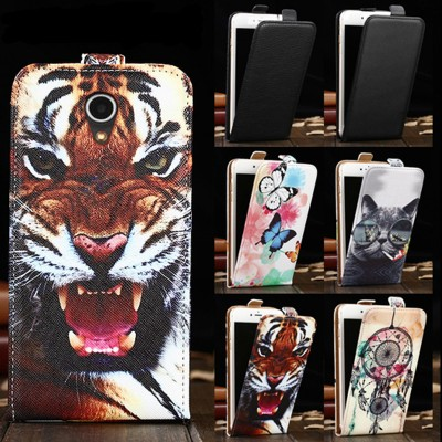 Phone Cases For Meizu M5C Cartoon Painting Vertical Phone Cover Flip Up and Down PU Leather Bag