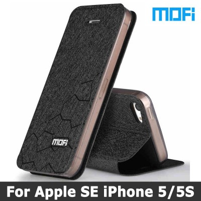 MOFI Case For iphone 5s case Original Mofi Brand For iphone se cover Stand holde Flip leather case + TPU soft case For iphone 5 se cases