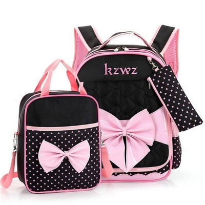New Fashion Children School Bags for Girls Backpack Female Kid Bag Child Printing Backpacks for Teenage Girls Bow Suit X013