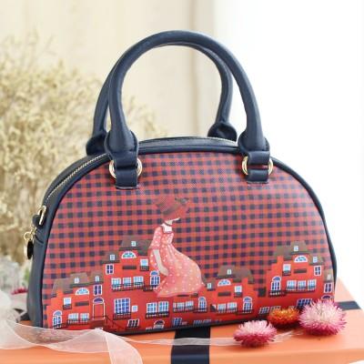 2017 Plaid Retro Vintage Small Mori Girl Fashion Shell Printed Bag Leather PU Women's Handbags Shoulder Messenger Crossbody Bags