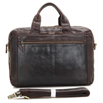 2017 Promotion Satchels Totes Vintage Briefcase Cow Leather Handbags Men Bag 15 Inch Laptop Brief Case Male Real Sac A Main