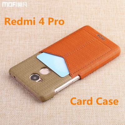 Redmi 4 pro case prime cover wallet billfold pocket card clip MOFi original Xiaomi Mi redmi 4 pro case back cover wheat sack 5""