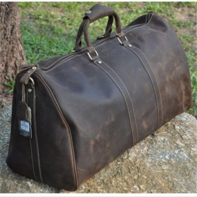 Fashion Multi-Function Genuine Leather Travel Bag Men's first layer cowhide leather  Luggage Duffle Bag Large Tote
