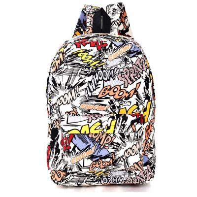 Hippie 2017 Canvas Backpacks Student School Bag Cartoon Print Rucksack Travel Pack Laptop Graffiti Bolsa Mochila Escolar XA1065C
