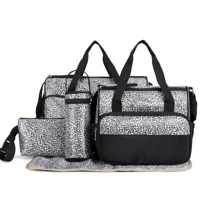 New arrival!  High Quality 5PCSSet Tote Baby Shoulder Diaper Bags Durable Nappy Bag Mummy Mother Baby nurse messager Bag