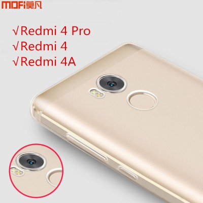 Redmi 4 case cover Xiaomi Mi Redmi 4 pro case MOFi original redmi 4 pro cover xiaomi redmi 4a case TPU soft back case capa funda