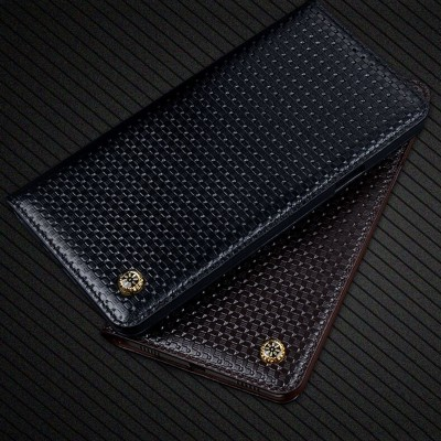 Business Flip Genuine Leather Flip Case For Samsung GALAXY S8 Plus G955 Galaxy S8+ Card Slot Wallet Holster Brand Back Cover