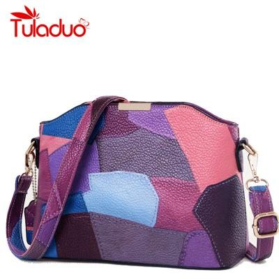 Women Patchwork Handbag Small Shoulder Messenger Bags Leather Designer Party Bags High Quality Crossbody Bag Clutch Purse Bolsas