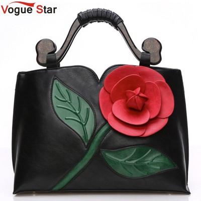 Vogue Star 2017 Bags handbags women famous brands women leather handbag Vintage women messenger bags flowers shoulder bag LS375
