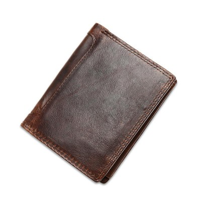 Men Wallets Famous Brand 100% Genuine Leather Coin Purse wallet Money Pocket Short Cowhide Real Leather Vintage Male Clutch