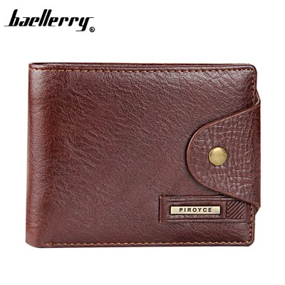 Brand short Mens wallet Genuine leather Mens Designer Wallet with Coin Pocket