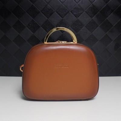 Women Bags 2017 Original Design Genuine Leather Shoulder Bag Metal Handle Cow Leather Shell Bags
