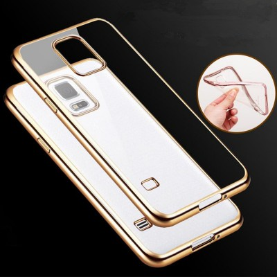 Ultra Thin Soft Plating Clear TPU Case for Samsung Galaxy S5 S6 S7 S8 Edge Plus On5 On7 C5 C7 C9 Pro Note 4 5 7 8 G530