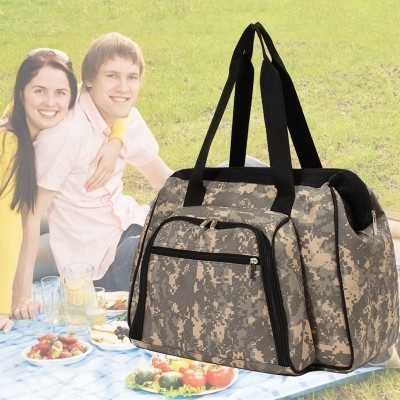High-Capacity Camouflage Multifunctional Outdoor Picnic Bag Oxford Cloth Lunch Food Storage Bag Travel Thermal Insulation Bag