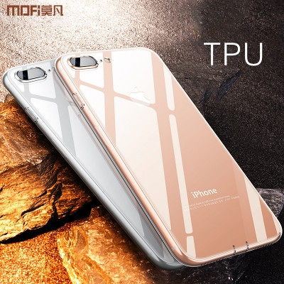 MOFI Phone Case For iphone 8 plus case silicone transparent for iphone 8 case cover jelly ultra clear for iphone8 plus soft TPU back case simple
