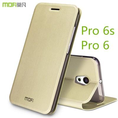 """Meizu pro 6s case cover meizu pro 6 cover black MOFi original flip case holder stand pro6s cover pro6 case capa coque funda 5.2"""""""