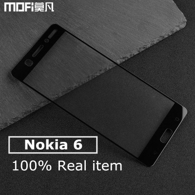 Nokia 6 glass screen protector nokia 6 tempered glass 2.5D hard edge white black full cover srceen protect film 2017 5.5 inch