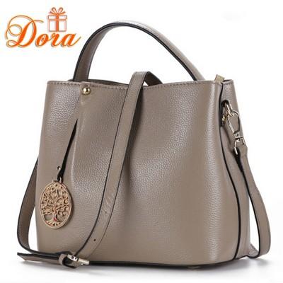 Bucket handbag women messenger bags luxury handbags women bags designer genuine leather shoulder bags 2017 fashion handbags new