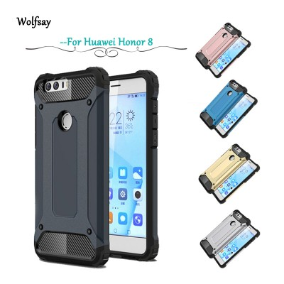 Wolfsay Phone For Case Huawei Honor 8 Cover Slim Armor Rubber + Hard PC Case For Huawei Honor 8 Case For Huawei Honor 8 Fundas
