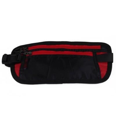 COOL Fanny Pack 10pcs( ASDS Polyester waist bag fanny pack Zipper Black Red for Men Women