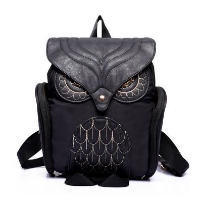 Gothic Backpacks Newest Fashion Women Nylon Owl Backpack Female Cartoon School Bags Mujer Gothic Mochila Escolar Girls Stylish Cool Bagpack Black