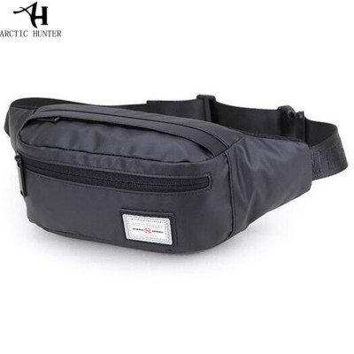 COOL Fanny Pack Fanny Pack Mans Waterpoof Waist Pack Lightweight Black Travel  Cross Body Bag For Mobile Phone Wallet One Strap Small Bag