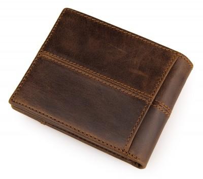 2017 Hot Sale Genuine Leather Men Vintage Solid Crazy Horse Pocket Wallet With Coin Pocket,mens Purse 100% Real Short