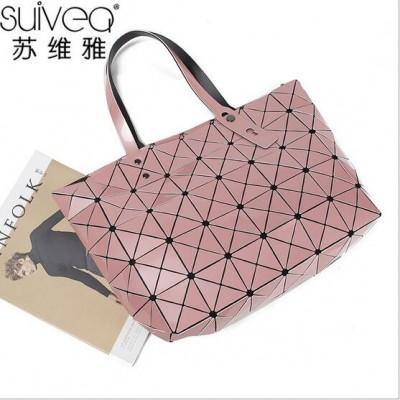 2017 NEW BaoBao Diamond Woman Handbag Issey Miyak Plaid bag Tote Geometry Sequins Saser Plain Folding Briefcase Shoulder Bolso