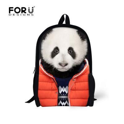 Hot Animal Panda Backpack Men's Travel Backpacks,Boys Tiger Printing Backpack Child Bagpack Children School Bags For Teenagers