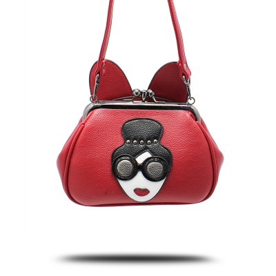 Sexy Bag 2017 Handbag Mouse Ears Lock Chain Crossbody Bag Small Handbag Shoulder Bags Purse Sexy Ladies Pattern Bag