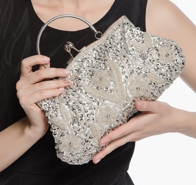 Retro Beaded Handmade Dinner Bag Multicolor Hobos Hasp Women Party Evening Bags Lady Solid Day Clutch Bag