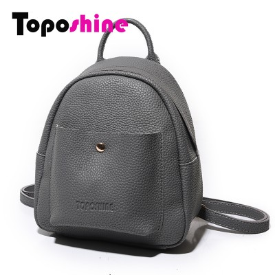 Mini New Korean Backpacks Fashion PU Leather Women Shoulder Bag Solid Pattern Small Backpack Girls School Bags
