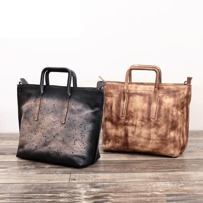 Bolsas De Ombro Feminina Luxury Handbags Women Bags Designer Leather Head Layer Cowhide Casual Tote Vintage Large & Crossbody