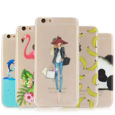 cartoon phone cases For Coque Iphone 6 Plus Silicone Case Cartoon Animal Patterns Phone Cove For Iphone 6S Plus Soft TPU Transparent Slim Clear Case cartoon cases