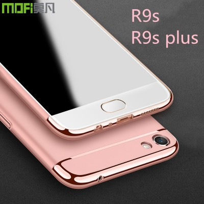 OPPO R9S case cover oppo r9s plus case luxury back case red rose gold oppo r9s plus cover 3 in 1 joint MOFi capa coque funda