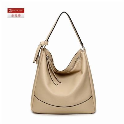 Shengxilu leather hobos women shoulder bag tassel black brand girls bags shop ladies handbags female big totes factory wholesale