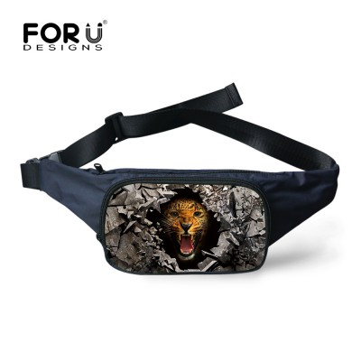 COOL Fanny Pack Waist Pack for Men Women Black Tiger Head Fanny Pack Travelling Casual Cross-body Mobile Phone Hip Pack Belt Bags