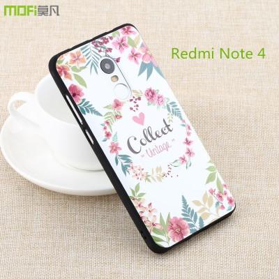 Redmi note 4 pro case cover xiaomi redmi note 4 case MOFi original pro prime soft back cover cartoon 3D relief colorful bohemia