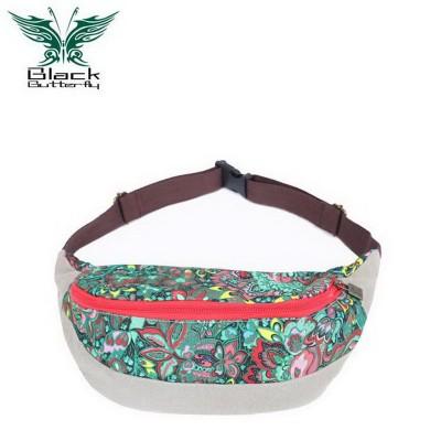 Brand Designer Multifunctional Fanny Bag Casual Waist Pack Bag Canvas Printing Belt bag Women Phone Belt Bag Coin Purse B5101M