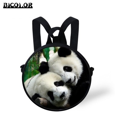 BICOLOR Vogue Backpacks 3D Printing backpacks mochila for teenage college students big school bags Panda/Clock/Earth/Foot ball